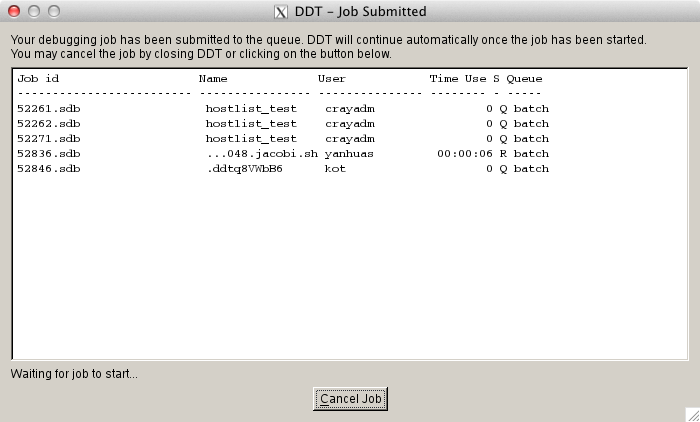 DDT - Job Submitted
