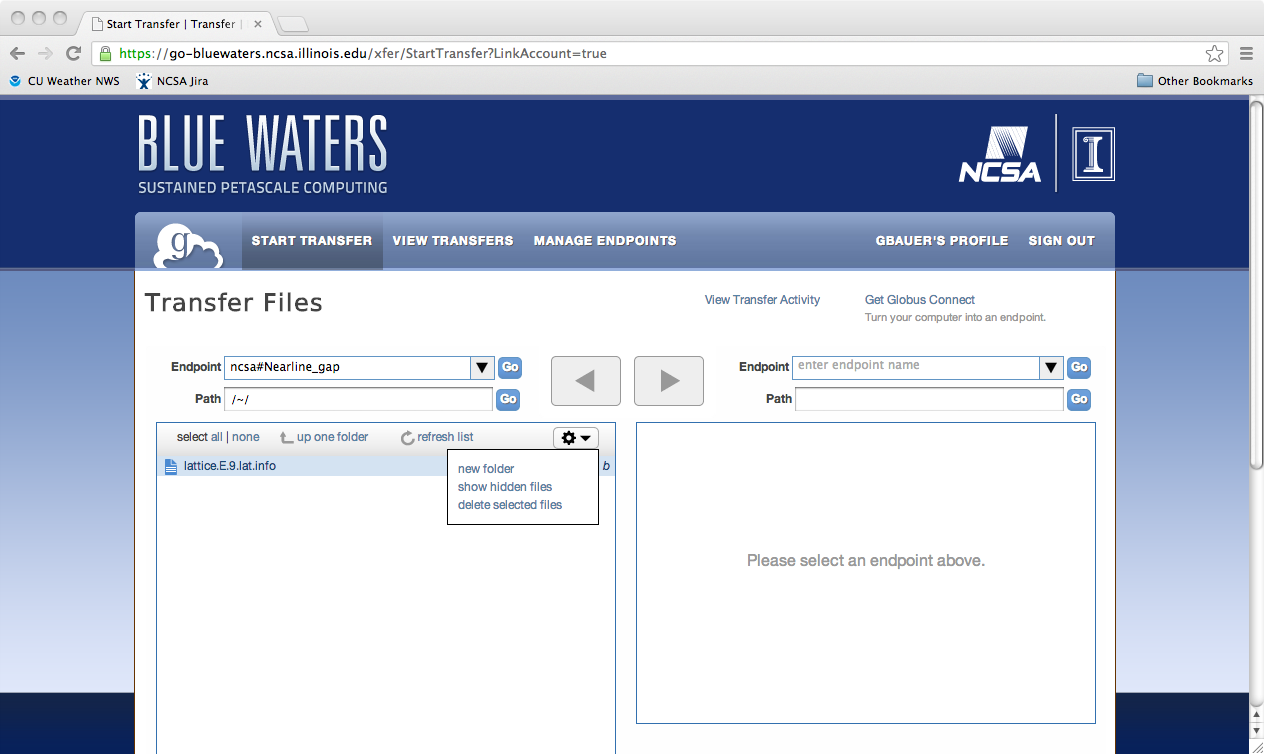 Blue Waters User Portal | Data Transfer